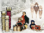 Toboggans, Child Sleds & Snowshoes